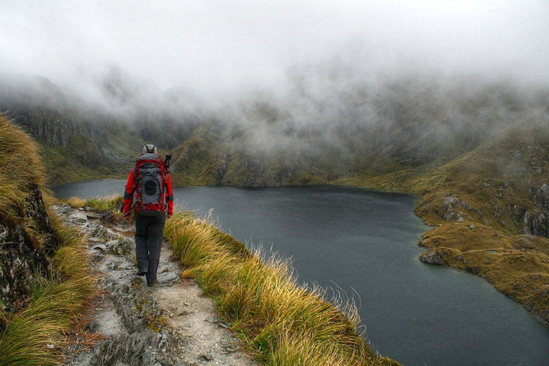 Crossing the Harris saddle on the Routeburn track
